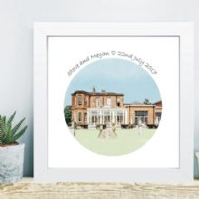 Wedding Venue Portrait in Box Frame - Excellent Gift for the Bride and Groom